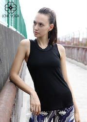 LOVE-YOGA瑜伽无袖背心Y380 瑜伽服镂空背心黑色