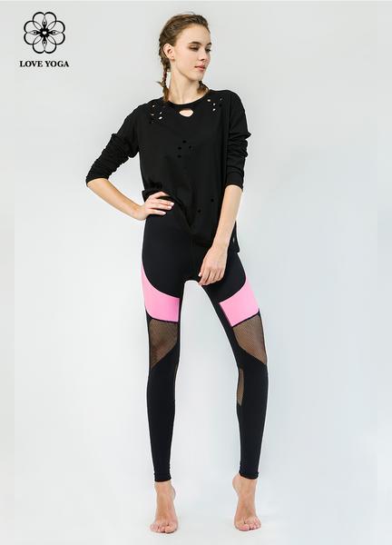 【Y806】時尚燒花工藝衛衣外套 黑色