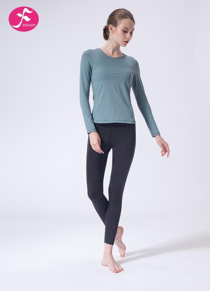 【J1133】一梵秋冬新款美背鏤空燒花瑜伽套裝