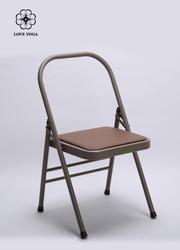 磨砂折疊瑜伽椅杏色   輔助工具 40*40*80CM