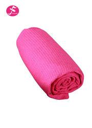 隐形硅胶颗粒 包边设计 格子铺巾  玫红    183*63CM