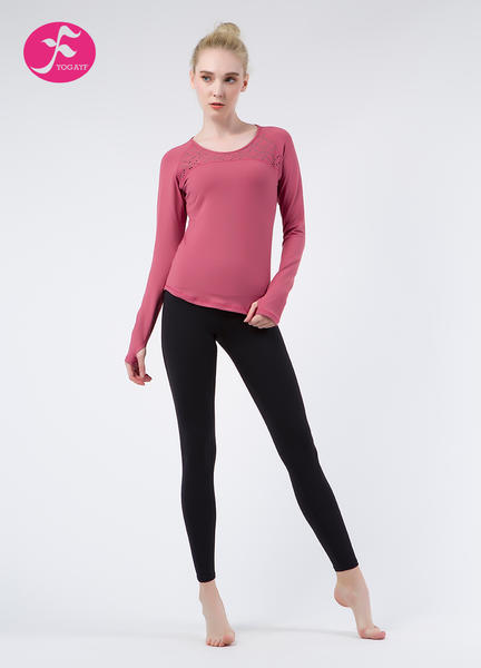 【秋冬新款】J1084 潘紅+黑色 雅致鐳射套裝