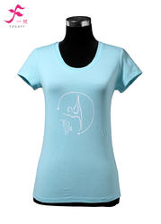 9号款    天蓝        一梵短袖印花纯棉T恤