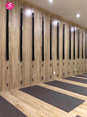 瑜伽墻實體安裝套件(板材+合金掛板+伸展帶*2 +盆骨腰帶+固定架+膨脹螺絲*2)