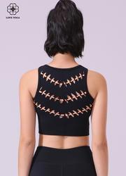 【Y967】后背穿插褶皱编织新潮短款小背心