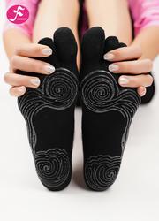 一梵秋冬保暖瑜伽袜 黑色