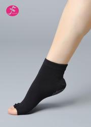 一梵瑜伽新款半趾硅胶防滑袜 黑色