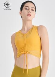 【Y1019】绑带随心设计时尚瑜伽服 琥珀黄