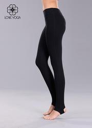 K703H L現貨     經典款式彈性束腿瑜伽長褲 黑色