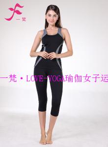 一梵瑜伽    清爽棉夏款套装       J688