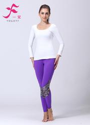 一梵秋冬新品  清爽棉  J888套装 瑜伽服 白色