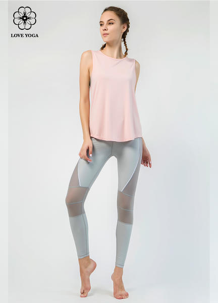 【Y783】新品罩衫時尚裁剪漏背設計 粉色