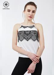【Y759】新款吊带蕾丝唯美性感上衣 白色