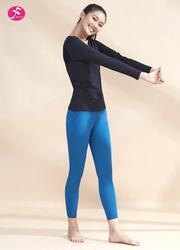 【J1229】立體分割網紗拼接 黑色+魅藍