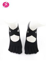 一梵专业防滑绑带瑜伽袜子  黑色