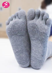一梵秋冬保暖瑜伽袜 麻灰