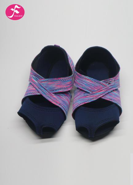 一梵新品硅胶防滑瑜伽鞋 紫红彩色