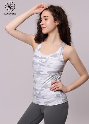 【Y662】夏季上衣拼接交叉肩帶背心 帶胸墊
