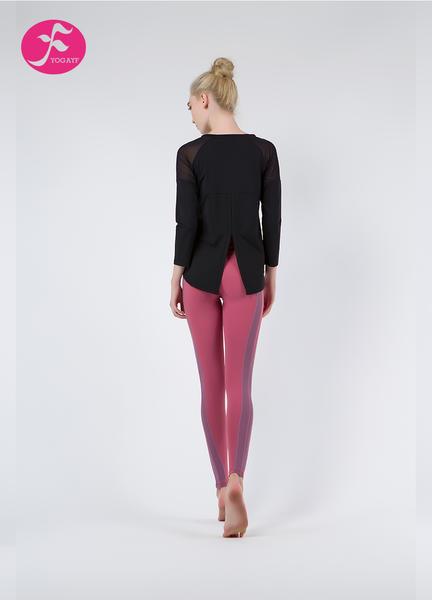 【秋冬新款】J1085 黑色+潘紅 燕尾罩衫套裝