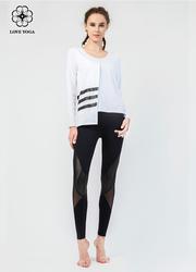 【Y848】时尚不对称设计瑜伽衬衫 白色