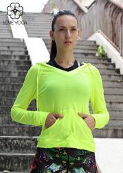 LOVE-YOGA瑜伽长袖 Y350 瑜伽服罩衫 外套 运动衫 柠檬黄