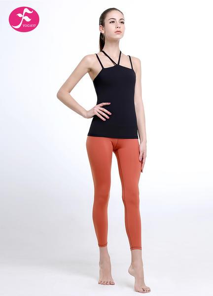 J1106套裝時尚肩帶設計褲子提臀裁剪黑色搭配信號粉活力無限