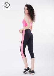 显高显瘦重塑翘臀交叉网纱裤—黑色款(K889)