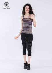 性感破洞镂空小翘臀瑜伽裤—黑色款( K879)