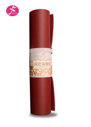 PVC高密度防滑瑜伽垫 酒红色     183*61*0.6CM