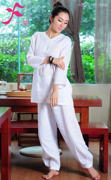 一梵禅修服3号款 款式简洁经典 材质天然舒适 麻棉 棉绸面料可选