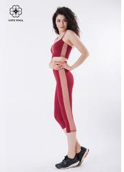 显高显瘦重塑翘臀交叉网纱裤—红色款(K861)