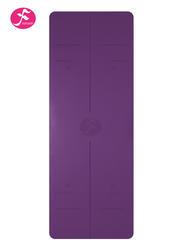 185*68cm一梵天然橡胶体位线垫 紫面黑底 (1.5薄款4.5厚款双款可选)
