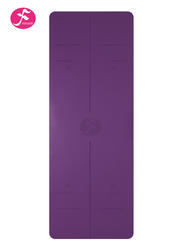 185*68cm一梵天然橡膠體位線墊 紫面黑底 (1.5薄款4.5厚款雙款可選)