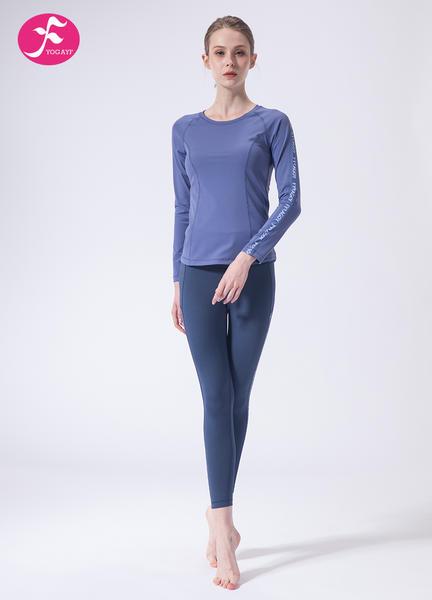 【J1140】一梵秋冬新款輕運動字母拼接健身運動套裝