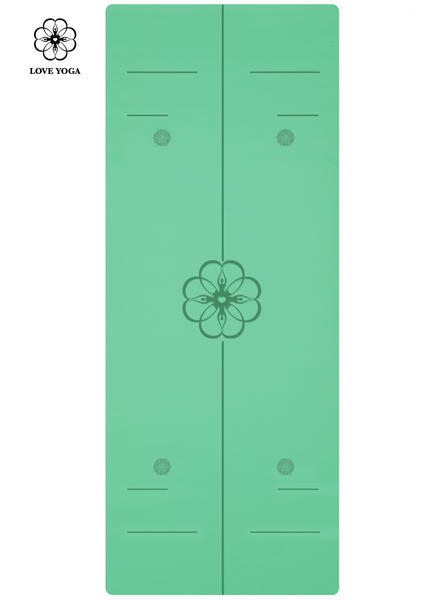 天然橡胶PU瑜伽垫(升级版)引导线  绿色