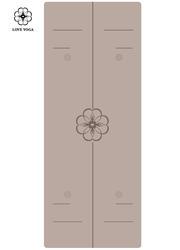 天然橡胶PU瑜伽垫(升级版)0.25cm引导线  浅灰