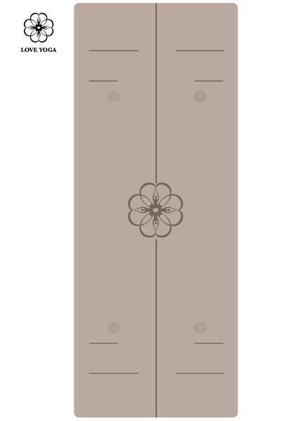 天然橡胶PU瑜伽垫(升级版)引导线  浅灰