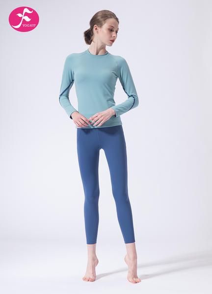 【J1148】一梵秋冬新款专?#30331;?#36816;动晨练瑜伽运动套装