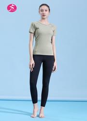 【J1200】鏤空美背插肩式設計時尚運動套裝