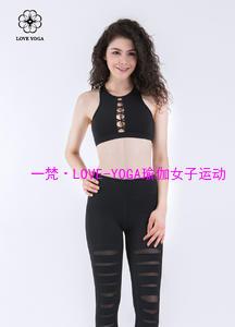 小圆领性感镂空固胸工字肩Bra—黑色款(Y561)