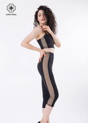 性感交叉网纱修身吊带Bra—黑色款(Y543)