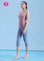 【J1183】U領七分褲時尚運動套裝