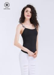活力親膚抹胸字母吊帶上衣—黑色款(Y589)