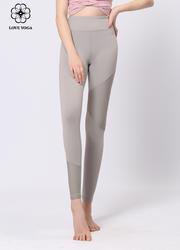 【K989】夏季新品蜂窩網紗瑜伽褲不對稱拼接長褲