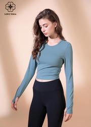 【Y904】秋冬新款修身顯瘦長袖瑜伽上衣