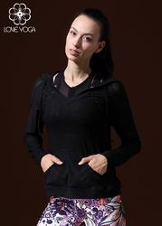 LOVE-YOGA瑜伽长袖 Y348 瑜伽服罩衫 外套 运动衫 黑色