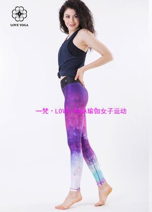 LOVE-YOGA  花裤 (H5224)L码现货