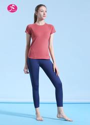 【J1196】侧边弧线贴合身型设计时尚运动套装