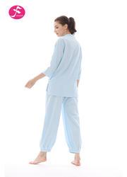 一梵禅修服5号款 款式简洁经典 材质天然舒适 麻棉 棉绸两种面料