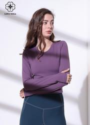 【Y903】秋冬新款修身顯瘦長袖瑜伽上衣